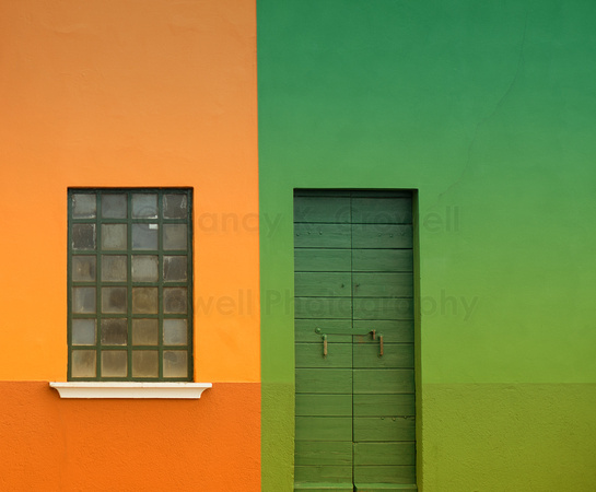 Colorful doors and windows in Burano, Italy.