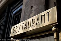 Deco restaurant sign in Paris.