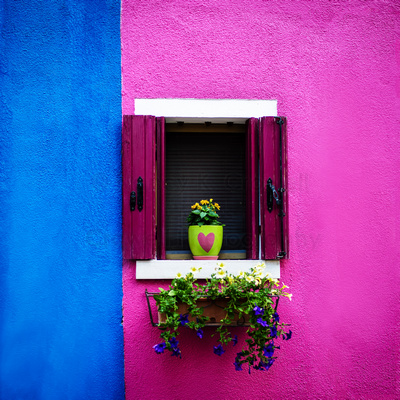 Colorful Burano, Italy.