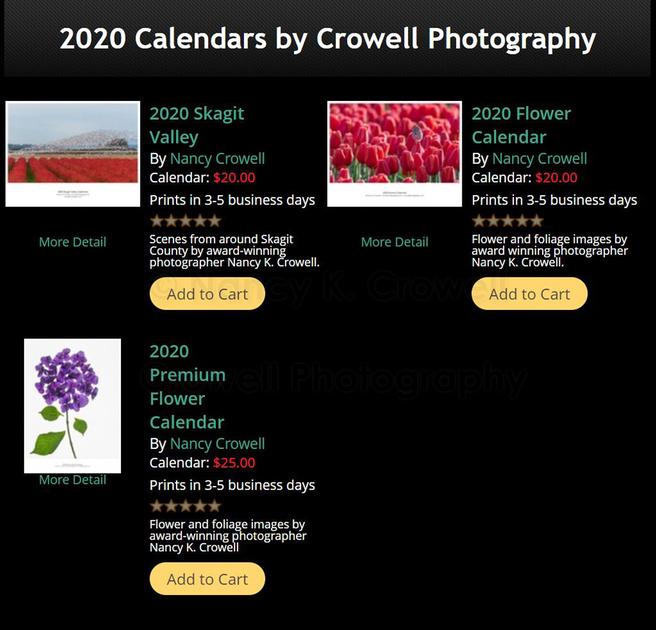 2020 Calendars For Sale