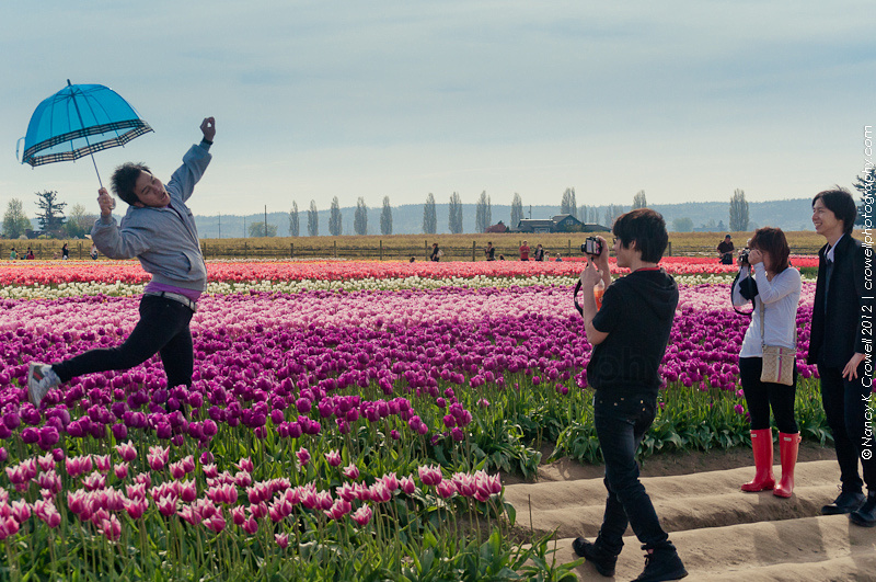 Tulips make people do silly things.