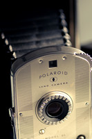 An old Polaroid Land camera.