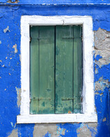 Burano Window Blue