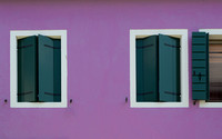 Purple House, Green Shutters