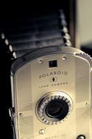 An old Polaroid Land camera.