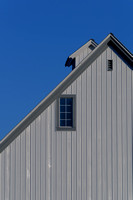 I was struck by the graphic lines of this new barn.