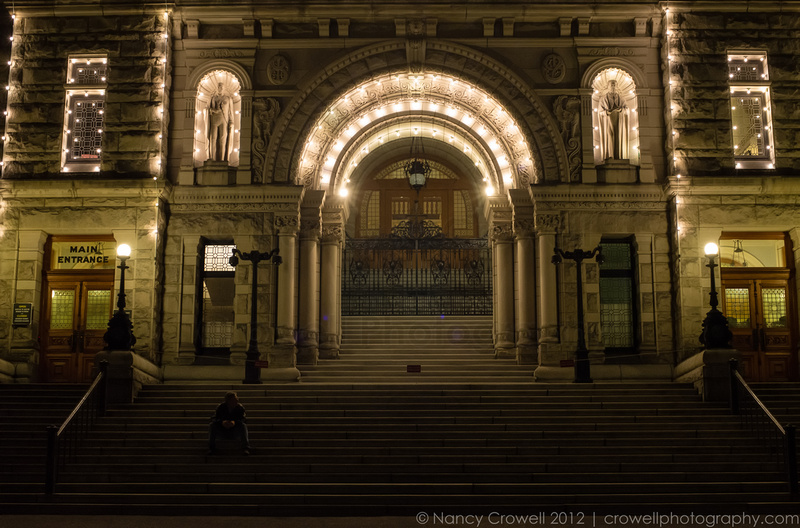 Steps of Parliament house, Victoria, BC. (c) Nancy K. Crowell | Crowell Photography