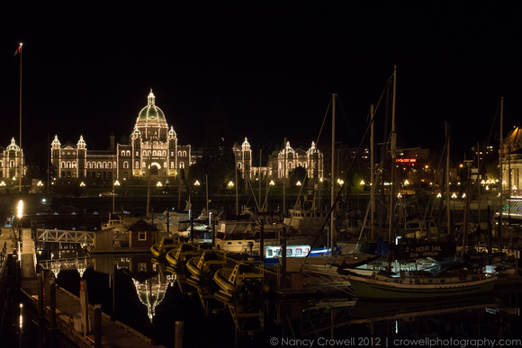 Victoria, BC inner harbor on a calm night. (c) Nancy K. Crowell | Crowell Photography