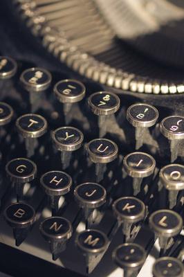 Dusty keys of an old typewriter.