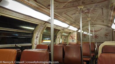 Inside the metro in Paris, France.